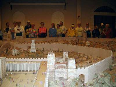 A miniature to scale city of Jerusalem