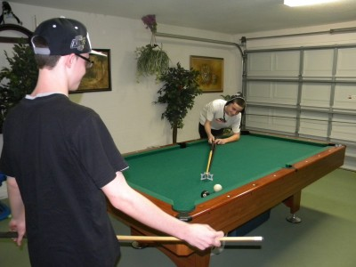 Kids love the games room with pool table & air hockey table