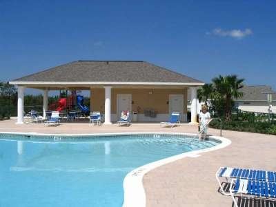 Enjoy the large non heated pool at Mission Park